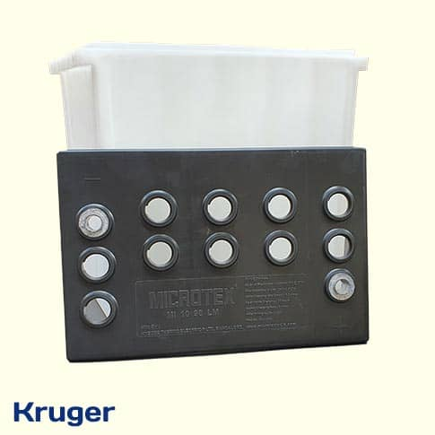 10v 75Ah Battery cover top view set from Kruger
